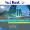 Test Bank for Basic Business Statistics 14th Edition by Mark L. Berenson, David M. Levine, Kathryn A. Szabat, David F. Stephan