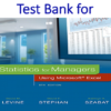 Test Bank for Statistics for Managers Using Microsoft Excel 8th Edition by David M. Levine, David F. Stephan, Kathryn A. Szabat