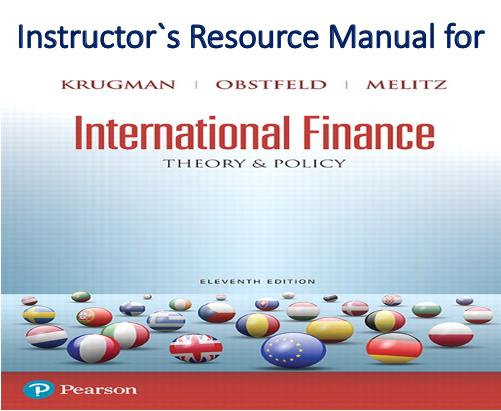 Instructor`s Resource Manual for International Finance Theory and Policy