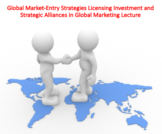 Global Market-Entry Strategies Licensing Investment and Strategic Alliances in Global Marketing Lecture