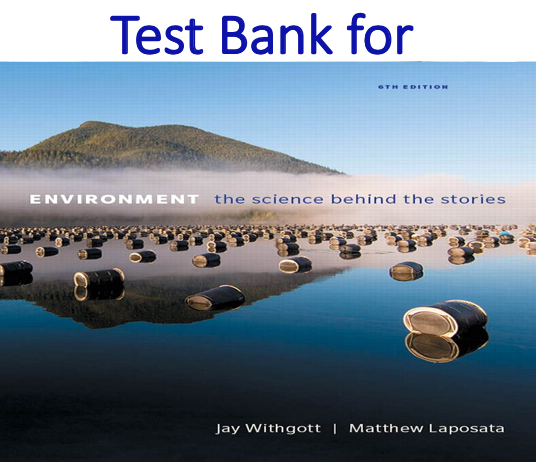 Test Bank for Environment The Science Behind the Stories 6th Edition by Jay H. Withgott, Matthew Laposata