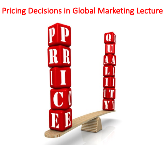Pricing Decisions in Global Marketing Lecture