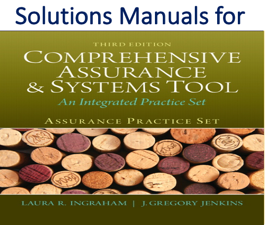 Solutions Manual for Assurance Practice Set for Comprehensive Assurance & Systems Tool (CAST) 3rd Edition