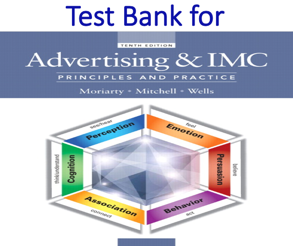 Test Bank for Advertising and IMC Principles and Practice 10th Edition
