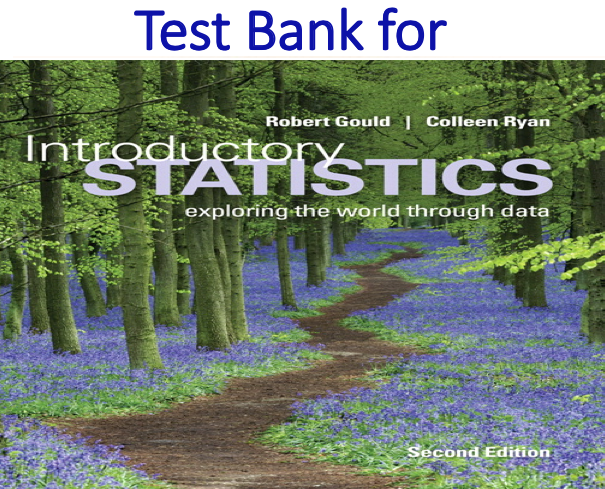 Test Bank for Introductory Statistics Exploring the World Through Data 2nd Edition by Robert Gould, Rebecca Wong, Colleen N. Ryan