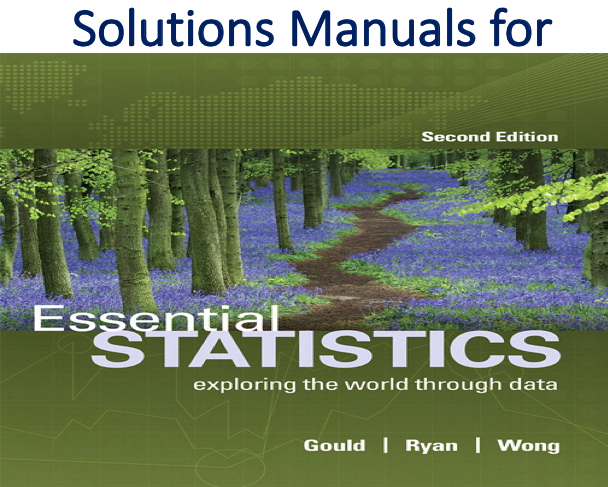 Solutions Manual for Essential Statistics 2nd Edition