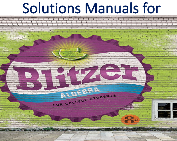 Solutions Manual for Algebra for College Students 8th Edition