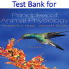 Test Bank for Principles of Animal Physiology 3rd Edition by Christopher D. Moyes, Patricia M. Schulte