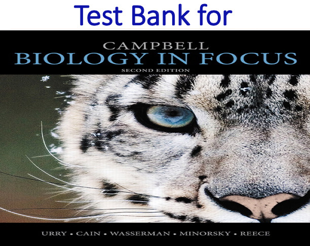 Test Bank for Campbell Biology in 2nd Edition