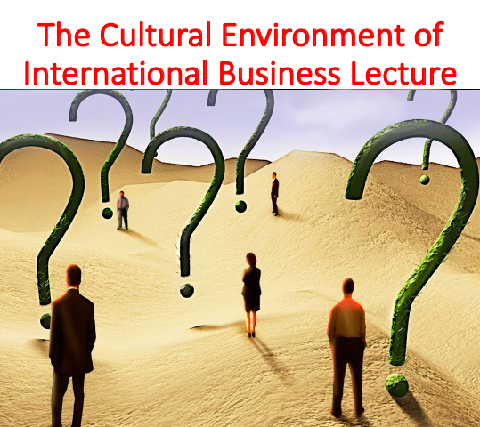 The Cultural Environment of International Business Lecture