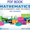 Mathematics for Economics and Business 9th Edition PDF Book by Ian Jacques