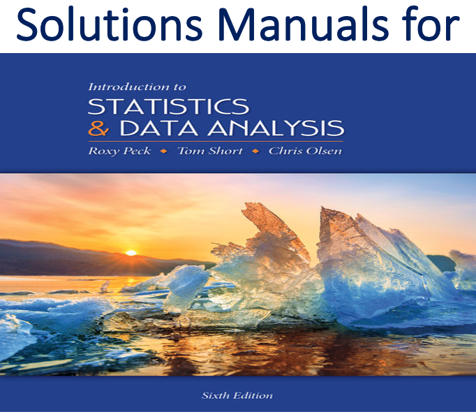Solutions Manual for Introduction to Statistics and Data Analysis 6th Edition