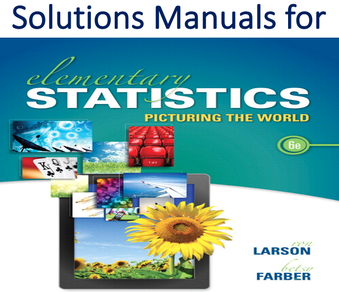 Solutions Manual for Elementary Statistics 6th Edition