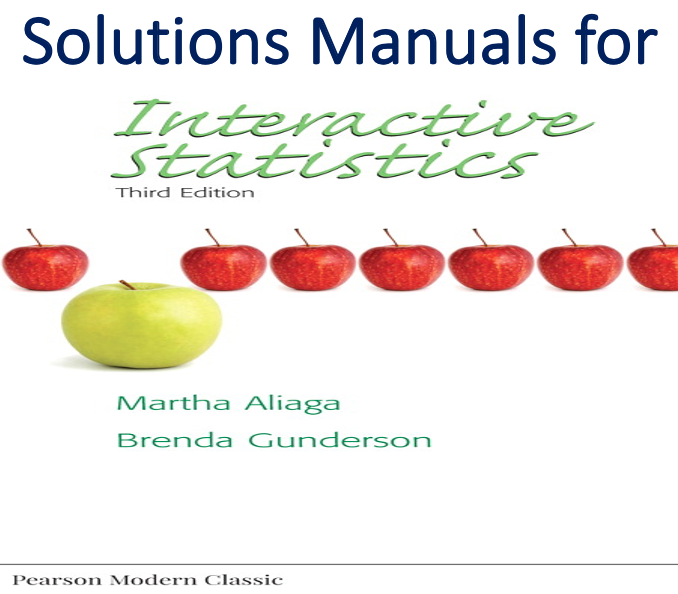 Solutions Manual for Interactive Statistics 3rd Edition