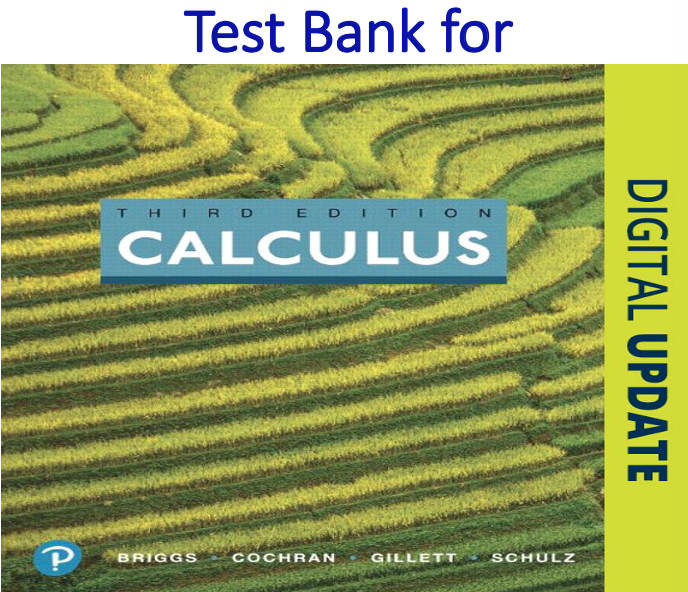 Test Bank for Calculus 3rd Edition