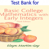 Test Bank for Basic College Mathematics with Early Integers 3rd Edition by Elayn Martin-Gay
