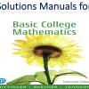 Solutions Manual for Basic College Mathematics 13th Edition by Marvin L. Bittinger, Judith A. Beecher, Barbara L. Johnson