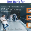 Test Bank for Contemporary Business Mathematics for Colleges 17th Edition by James E. Deitz, James L. Southam
