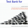 Test Bank for Contemporary Mathematics for Business and Consumers7 Edition by Robert Brechner, Geroge Bergeman